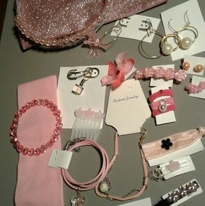 Purse and accessories earrings bracelet necklaces